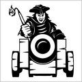 Pirate canon - pirate themed design elements