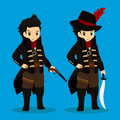 Pirate Captain Costume Vector