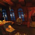 Pirate Captains Cabin Stock Photo