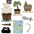 Pirate Collection Stock Image