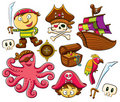 Pirate Collection Set Stock Image