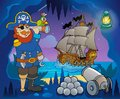 Pirate cove theme image eps vector illustration Stock Photo