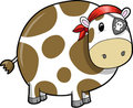 Pirate Cow Vector Illustration Royalty Free Stock Photo