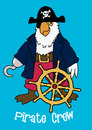 Pirate crew parrot vector illustration of a Royalty Free Stock Image