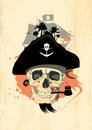 Pirate design with ghost skull. Royalty Free Stock Images