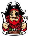 Pirate eat steak