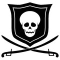 Pirate emblem illustration of a on a white background Royalty Free Stock Photo