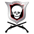 Pirate emblem illustration of a on a white background Stock Image