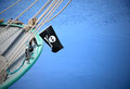 A pirate flag Royalty Free Stock Photos