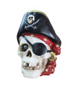 Pirate flag on blue sky Royalty Free Stock Photos