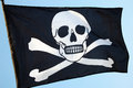 Pirate flag, skull and crossbones Royalty Free Stock Photo