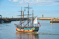 Pirate Galleon: trips round the Bay at Whitby Royalty Free Stock Photo