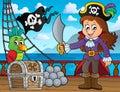 Pirate girl theme image 3 Royalty Free Stock Photo