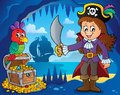 Pirate girl theme image 2 Royalty Free Stock Photo