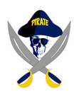 Pirate with glasses Royalty Free Stock Photography