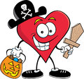 Pirate Heart Royalty Free Stock Images