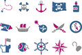 Pirate Icon Set Stock Photo