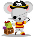 Pirate Mouse Royalty Free Stock Photo