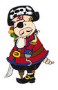 Pirate Pig. Royalty Free Stock Photo