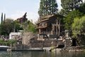 Pirate s lair on tom sawyer island at disneyland artificial surrounded by the rivers of america containing caves and scenic Stock Photography