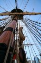 Pirate's ship mast Stock Images