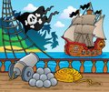 Pirate ship deck theme 4 Stock Photography