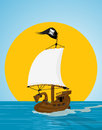 Pirate ship illustration Royalty Free Stock Images