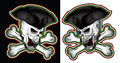 Pirate shouting evil skull with hat illustration angry Royalty Free Stock Photo