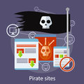 Pirate Sites Concept Royalty Free Stock Photo