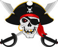 Pirate skull and crossed swords Royalty Free Stock Photo