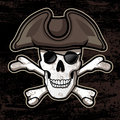 Pirate skull design grunge texture hat Stock Photography