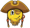 Pirate smiley vector cartoon on attribute and style Stock Photography