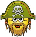 Pirate smiley vector cartoon on attribute and style Royalty Free Stock Images
