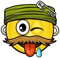 Pirate smiley vector cartoon on attribute and style Royalty Free Stock Photography