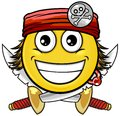 Pirate smiley vector cartoon on attribute and style Stock Photos