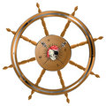Pirate steering wheel Stock Photography