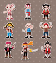 Pirate stickers Stock Image