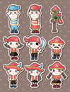 Pirate stickers Royalty Free Stock Image