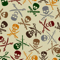 Pirate Symbols Seamless Pattern Royalty Free Stock Image