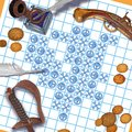 Pirate tic tac toe Royalty Free Stock Photo
