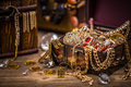 Pirate treasure chest Royalty Free Stock Photo