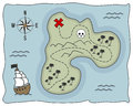 Pirate Treasure Island Map