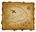 Pirate Treasure Map Royalty Free Stock Photo