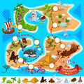 Pirate treasure map various exotic location from file is eps contain transparency Royalty Free Stock Image