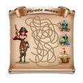 Pirate treasure maze.