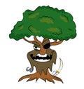 Pirate tree cartoon Royalty Free Stock Photo