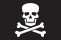 Pirate vector flag jolly roger with skull and cross bones Stock Photos