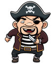 Pirate vector illustration of cartoon Stock Photos