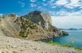Pirates bay and koba kaya mountain view on near noviy svet resort eastern crimea ukraine Stock Photography