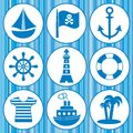 Pirates icons Royalty Free Stock Images